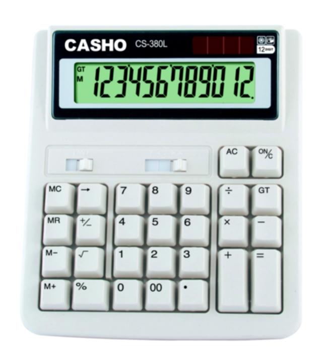Electronic Calculator CASHO CS-380L 12 DIGIT 1