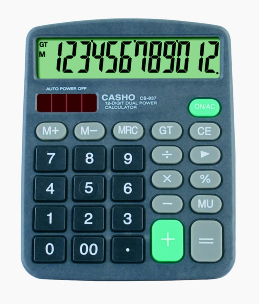 電子計算器 CASHO CS-837 12位數字 1