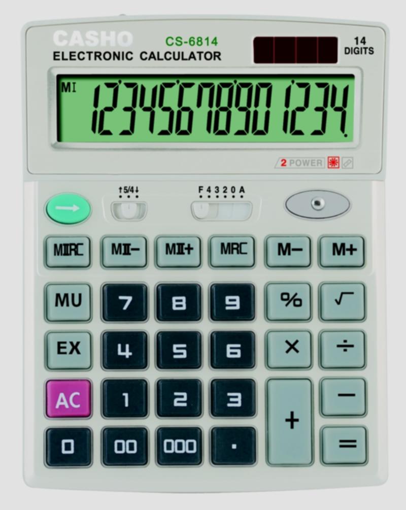 Electronic Calculator CASHO CS-6814 14 DIGIT 1