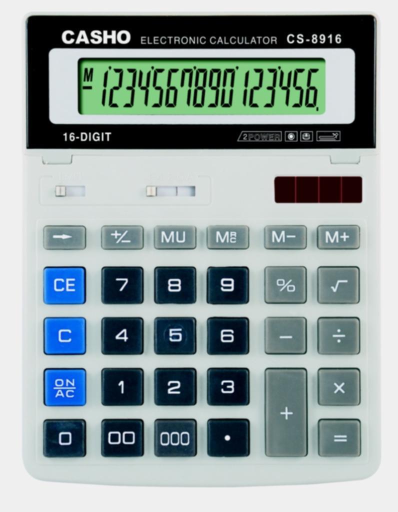 Electronic Calculator CASHO CS-8916 16 DIGIT 1