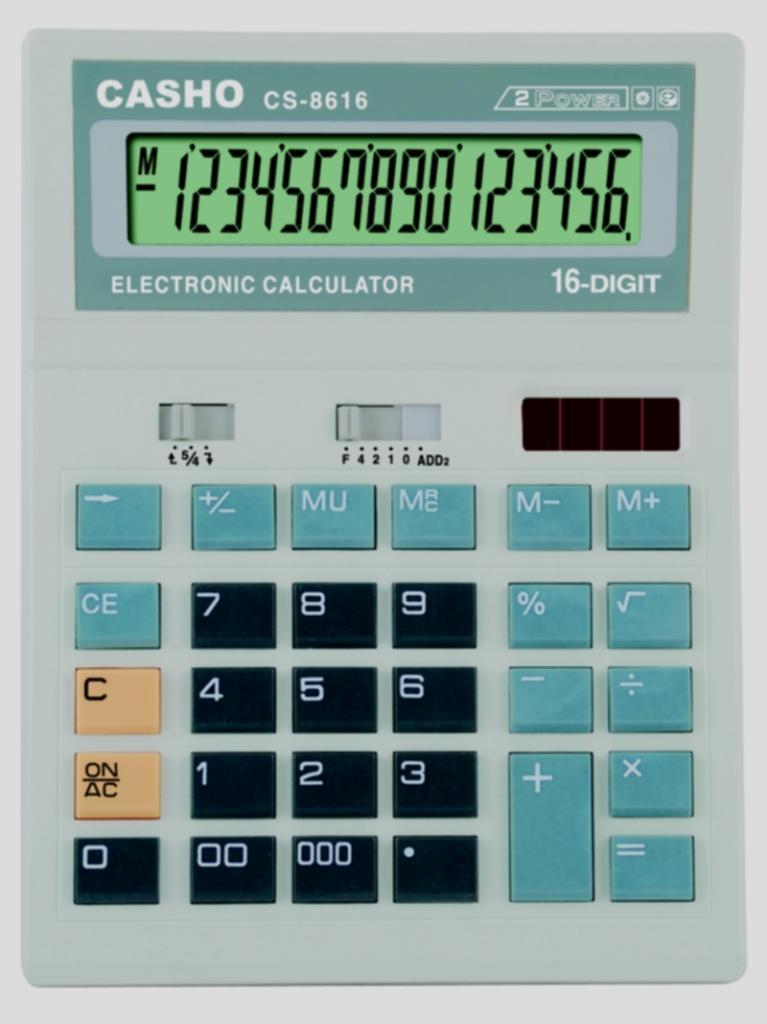 Electronic Calculator CASHO CS-8616 16 DIGIT 1