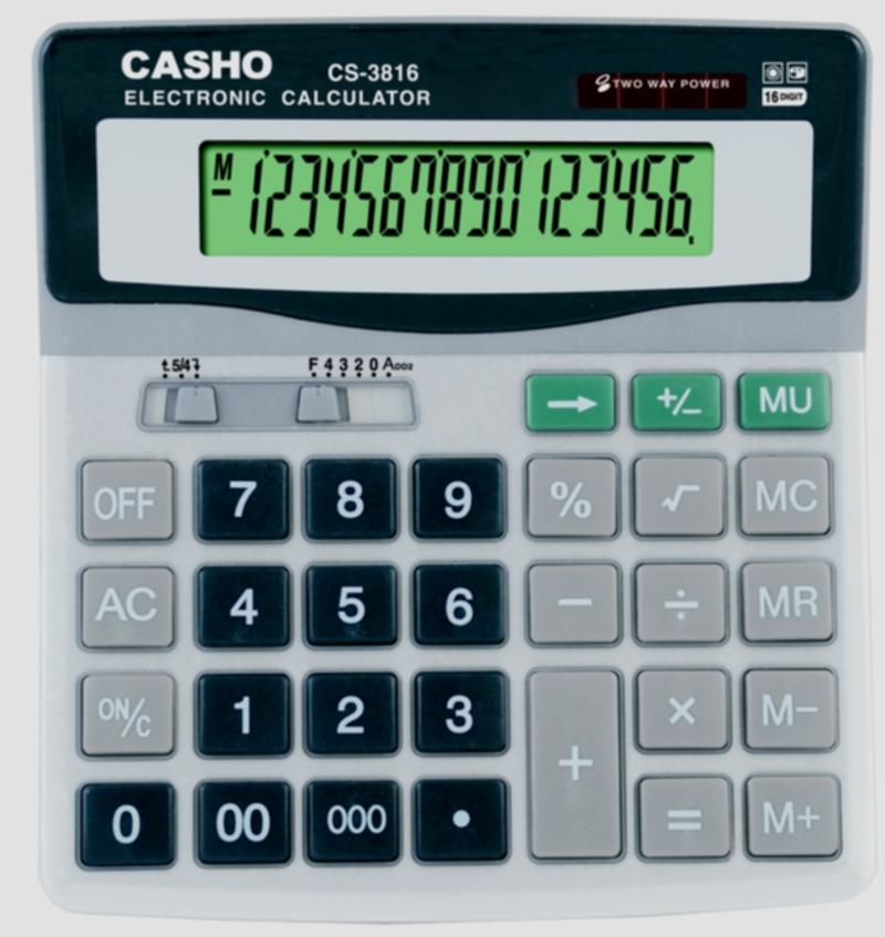 電子計算器 CASHO CS-3816 16 位數字 1
