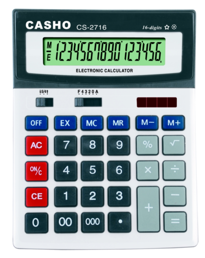 電子計算器 CASHO CS-2716 16 位數字 1