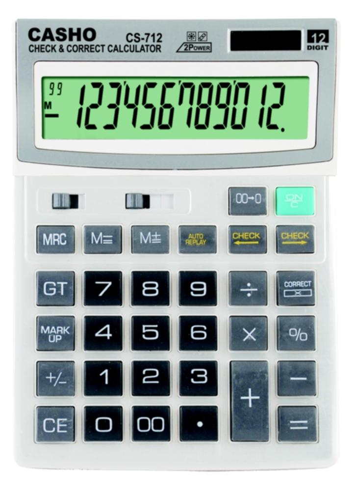 電子計算器 CASHO CS-712 12位數字 1