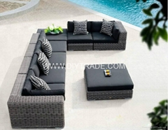 Modern outdoor rattan sofa sets