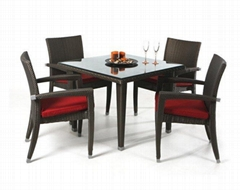outdoor rattan dining room furniture set