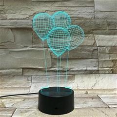 3D optical illusion lamp, 3D night light