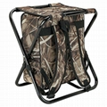 Camping Hunting Fishing Backpack Folding chair with Cooler