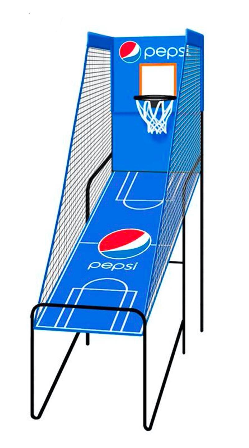 单人电子记分篮球架 3