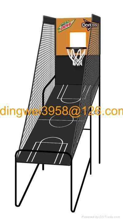 单人电子记分篮球架 1