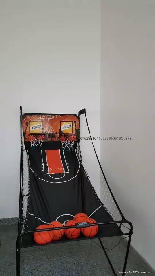 電子記分雙人籃球架 3