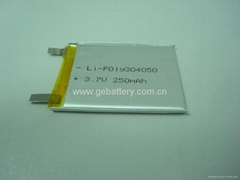 3.7V lipo battery for MP3, MP4 digital players