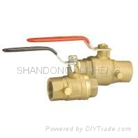 ball valve with side-drain