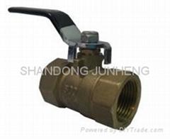 2-pc brass ball valve reduced port