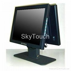 櫃臺式液晶雙面顯示器