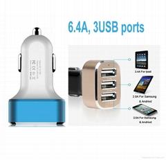 3USB 车载充电器 6.4A