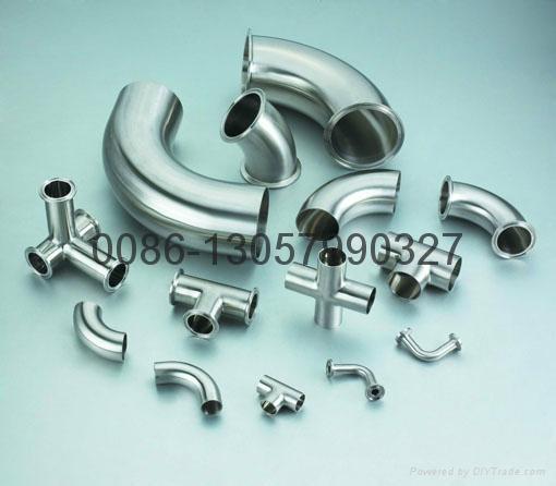 不锈钢卫生级90°短焊弯头 3