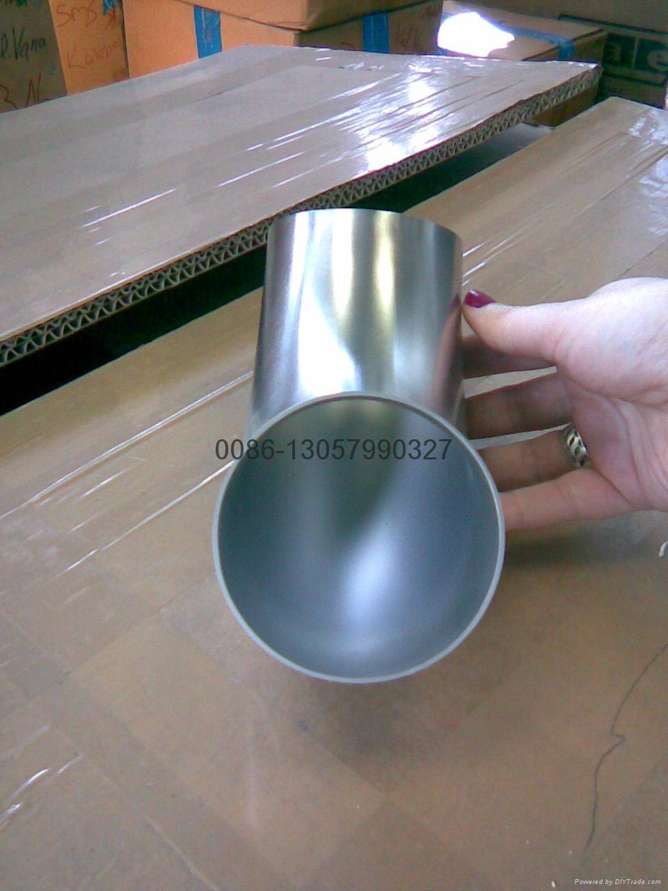不锈钢卫生级90°短焊弯头 6