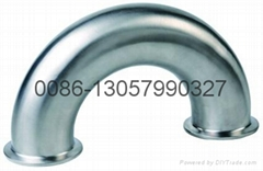 stainless steel sanitary  180° elbow