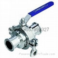 clamped non-retention ball valve