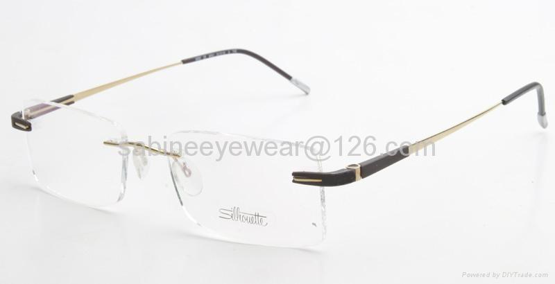 professional manufacturer high quality rimless titanium optical frame eyeglass  4