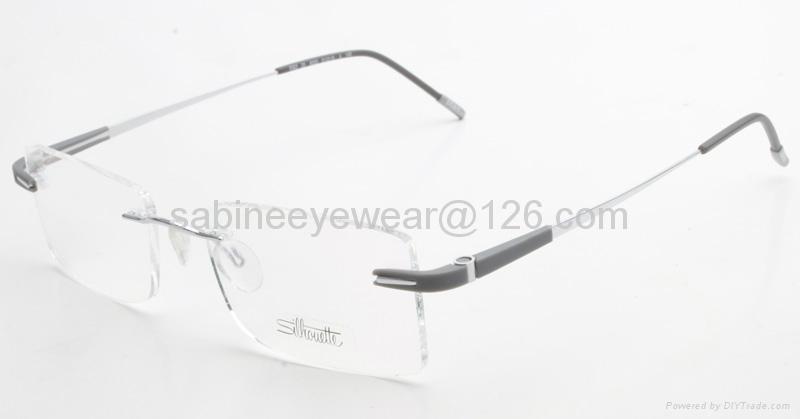 professional manufacturer high quality rimless titanium optical frame eyeglass  2