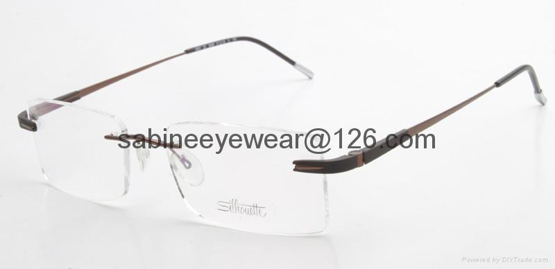 professional manufacturer high quality rimless titanium optical frame eyeglass  1