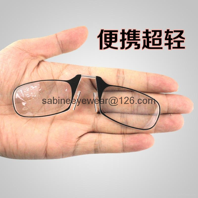 Mini Nose Clip Magnetic TR90 Reading Glasses For Mens Women+1.5+2.0+2.5 4