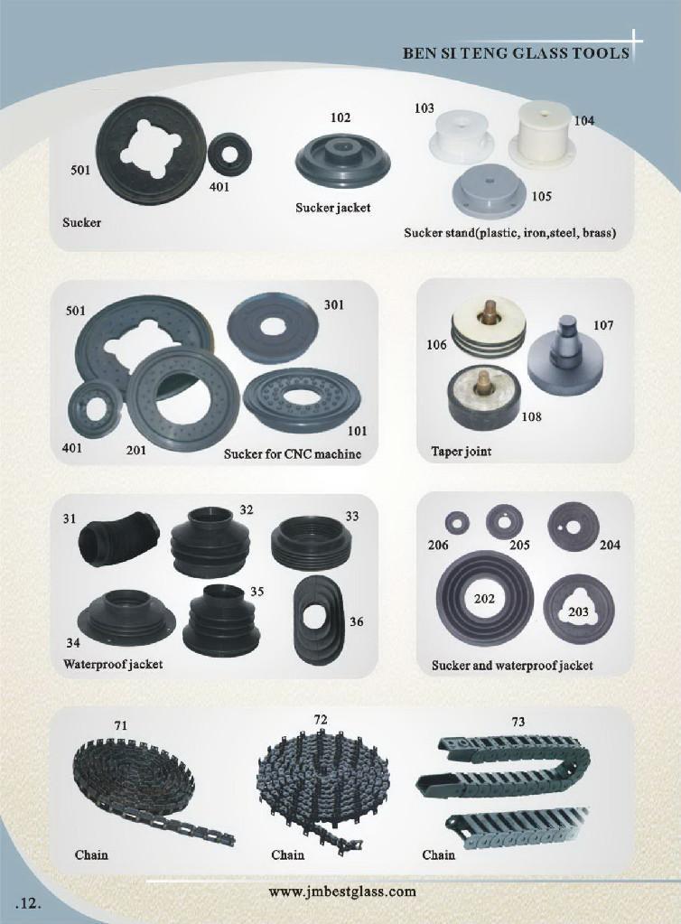 玻璃磨边机配件,吸盘,防水套 1
