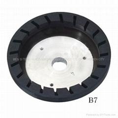 Resin wheel for beveling machine