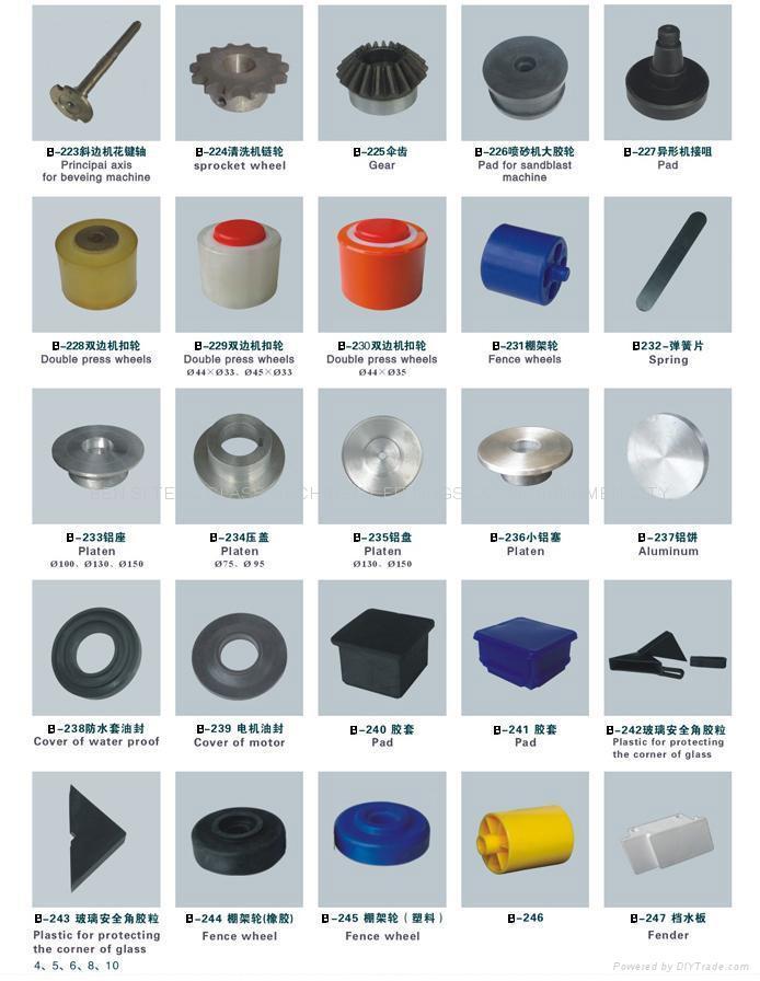 Glass machine accessories 1