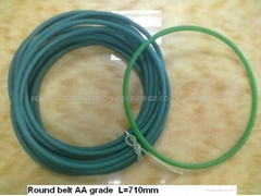 Round belt for tempering furnace