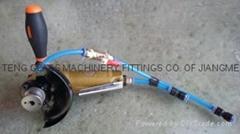 Pneumatic portable glass edging machine