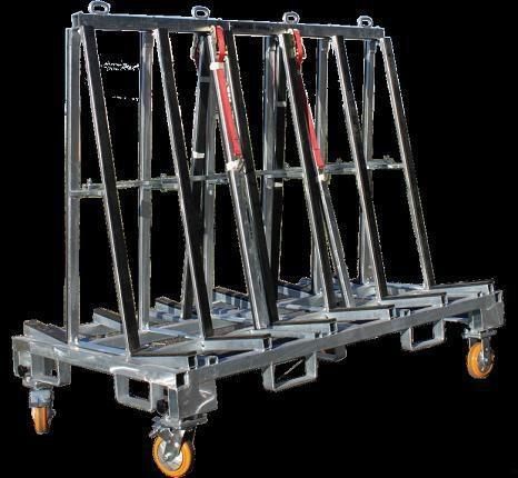 Glass Transport Rack