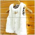 Zara同款女童兔毛馬甲外套 5