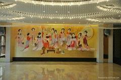 絲綢手繪牆紙