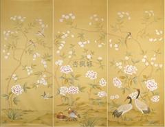 手繪絲綢牆紙