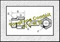 Flexible Stainless Steel Conduit Connectors/Fittings 2
