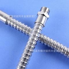 同豐 廠家促銷8MM單扣軟管帶接頭 水表專用不鏽鋼軟管