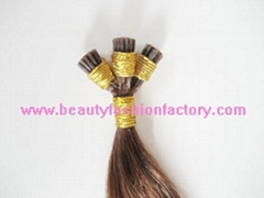 Pretipped I tip hair,Shoe lace hair Manufacturer,Supplier