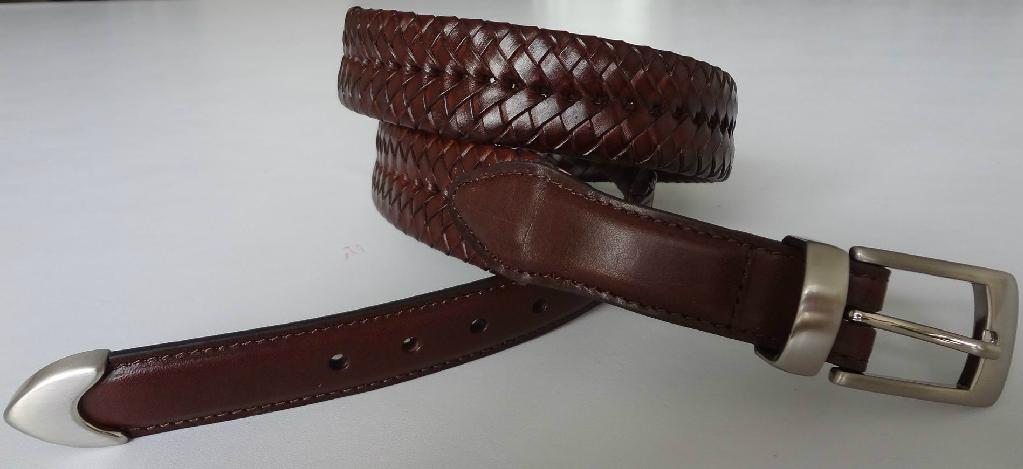 Men Belt Tapered Three Buckle Sets Belt 1