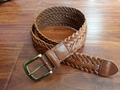 Men's Fashion Genuine Leather Braid Belt Jean Belt