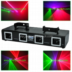 Four lens 4 color DMX laser light-L2608