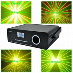 500mW RGY laser show system audio light