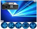 Cyan ILDA laser Animation laser logo