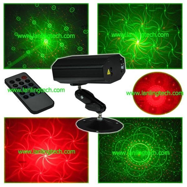 mini laser stage lighting with remote control 1
