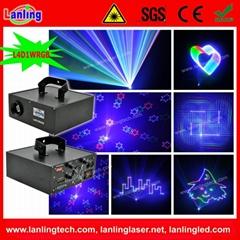 4-IN-1 1W RGB Laser DJ Lighting