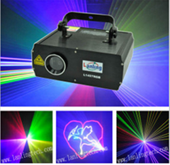 1.5W RGB 25kpss ILDA Cartoon Laser logo