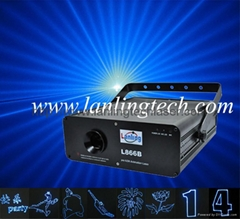 50mW blue animation laser light stage light moving head