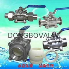 Stainless steel threaded connection ceramic ball valve manually